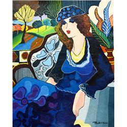"Patricia Govezensky- Original Acrylic on Canvas ""Close My Eyes"""