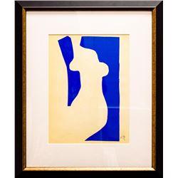 "Henri Matisse- Lithograph ""Verve - Nu bleu V"""