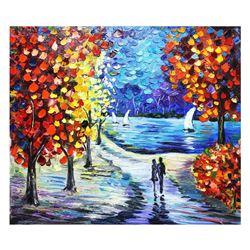"""Svyatoslav Shyrochuk- Original Oil on Canvas """"Romantic Morning"""""""