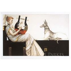 "Michael Parkes ""Anubis"" Original Hand Pulled Stone Lithographs"