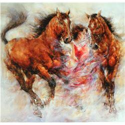 "Gary Benfield ""Spirit III"" Giclee on Canvas"