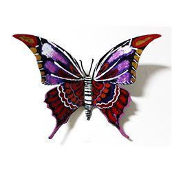 "Patricia Govezensky- Original Painting on Cutout Steel ""Butterfly CXLII"""