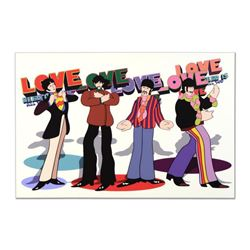 """The Beatles - """"Love, Love, Love"""" Limited Edition on Gallery Wrapped Canvas, Numbered with Certificat"""