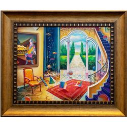 "Alexander Astahov- Original Oil on Canvas ""Back to the Future"""