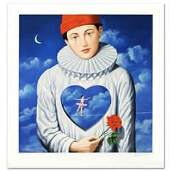 """Explicit Introspection"" Limited Edition Hand Pulled Original Lithograph by Rafal Olbinski, Numbered"
