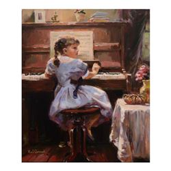 "Garmash - ""The Music Lesson"" Hand-Embellished Limited Edition on Canvas, Numbered and Hand Signed."