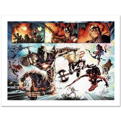 """Fear Itself #7"" Limited Edition Giclee on Canvas by Stuart Immonen and Marvel Comics. Numbered and"