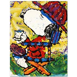 """Tea At Bel Air-3:00"" Limited Edition Hand Pulled Original Lithograph by Renowned Charles Schulz Pro"