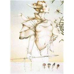 "Michael Parkes ""Stalking"" Original Hand Pulled Stone Lithographs"