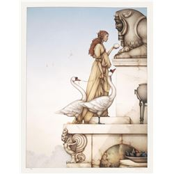 "Michael Parkes ""The Riddle"" Original Hand Pulled Stone Lithographs"