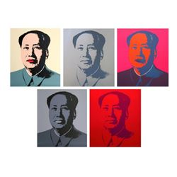 "Andy Warhol ""Mao Portfolio"" Suite of 5 Silk Screen Prints from Sunday B Morning."