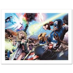 """""""Ultimate Power #6"""" Limited Edition Giclee on Canvas by Greg Land and Marvel Comics. Numbered and Ha"""