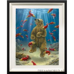 """Robert Bissell """"The Swimmer"""" Giclee on Paper"""