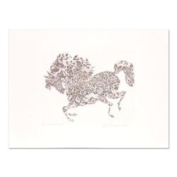 """Guillaume Azoulay - """"Larlecchino"""" Limited Edition Etching, Numbered and Hand Signed with Letter of A"""