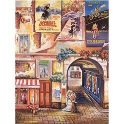 "Alexander Borewko- Original Giclee on Canvas ""A Quiet Street"""
