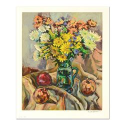 """Robert Rosenberg, """"Pomegranates"""" Limited Edition Serigraph, Numbered and Hand Signed with Letter of"""