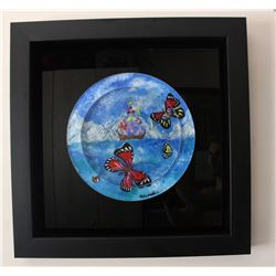 "Eugene Poliarush- Original Acrylic Painting on Acrylic ""Butterflies"""