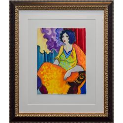 "Patricia Govezensky- Original Watercolor ""Cherry"""
