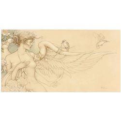 "Michael Parkes ""Primavera"" Masterworks on Vellum"