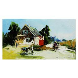 "Shalva Phachoshvili- Original Oil on Canvas ""Old Europe"""