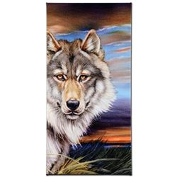 """Wolf"" Limited Edition Giclee on Canvas by Martin Katon, Numbered and Hand Signed with Certificate o"