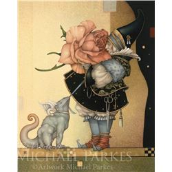 "Michael Parkes ""The Rose Collector"" Masterworks on Canvas"