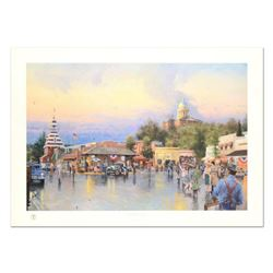 "Thomas Kinkade (1958-2012), ""Main Street Courthouse"" Limited Edition Offset Lithograph, Numbered and"