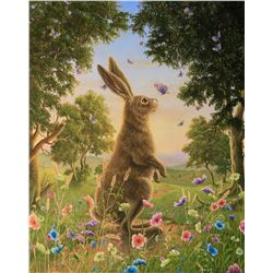 "Robert Bissell ""The Kiss 2"" Giclee on Canvas"