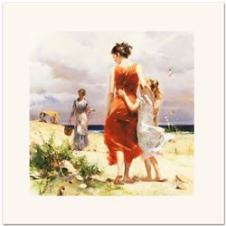 "Pino (1931-2010), ""Breezy Days"" Limited Edition on Canvas, Numbered and Hand Signed with Certificate"