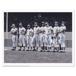 """Big Red Machine Line-Up"" is a Lithograph Featuring Signatures from the Big Red Machine's Starting E"