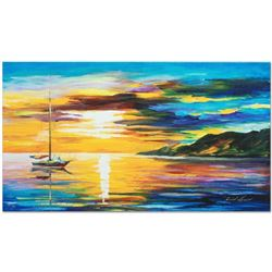 "Leonid Afremov ""Sunset"" Limited Edition Giclee on Canvas, Numbered and Signed; Certificate of Authen"
