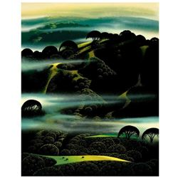 "Eyvind Earle (1916-2000), ""Fog Draped Hills"" Limited Edition Serigraph on Paper; Numbered & Hand Sig"