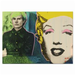 "Ringo, ""Andy's Marilyn"" One-of-a-Kind Hand-Pulled Silkscreen and Mixed Media Painting on Canvas, Han"
