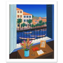 """Window on Bonifacio"" Limited Edition Serigraph by Fanch Ledan, Numbered and Hand Signed with Certif"
