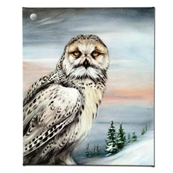 """Snow Owl in Alaska"" Limited Edition Giclee on Canvas by Martin Katon, Numbered and Hand Signed with"