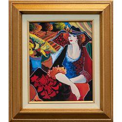 "Patricia Govezensky- Original Giclee on Canvas ""Lady Chapeau"""