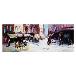 "Shalva Phachoshvili- Original Oil on Canvas ""Old School"""