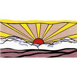 """Roy Lichtenstein """"Sunrise, c.1965"""" Offset Lithograph"""