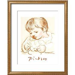 """Pablo Picasso """"Enfant Deieunant"""" Custom Framed Lithograph"""