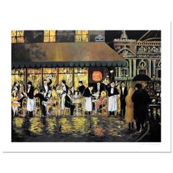 """Guy Buffet - """"Cafe de la Paix"""" Limited Edition Serigraph; Numbered and Hand Signed with Certificate"""