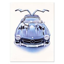 """Wolfgang Kuzel, """"Mercedes 300 SL"""" Limited Edition Lithograph from a PP Edition, Hand Signed with Let"""