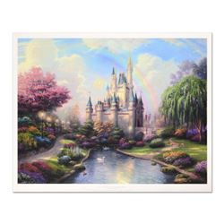 """Thomas Kinkade (1958-2012), """"A New Day at Cinderella Castle"""" Limited Edition Offset Lithograph, PP N"""