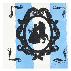 """Gail Rodgers - """"Mirror Mirror Series (Beauty and the Beast)"""" One-of-a-Kind Hand-Pulled Silkscreen an"""