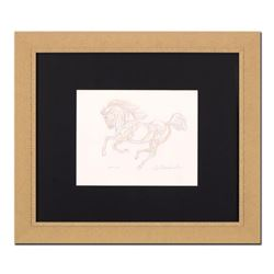 """Guillaume Azoulay - """"BF Sketch"""" Framed Original Drawing, Hand Signed with Certificate of Authenticit"""