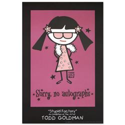 """""""Sorry, No Autographs"""" Fine Art Litho Poster (24"""" x 36"""") by Renowned Pop Artist Todd Goldman."""