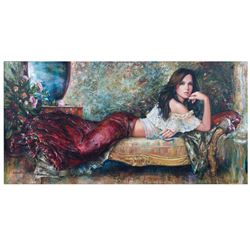 "Igor Semeko- Original Giclee on Canvas ""Lonely Night"""