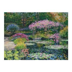 """Howard Behrens (1933-2014), """"Giverny Lily Pond"""" Limited Edition on Canvas, Numbered and Signed with"""