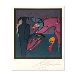 """Mihail Chemiakin - Carnival Series: """"Untitled 8"""" Limited Edition Lithograph, Numbered Hand Signed wi"""