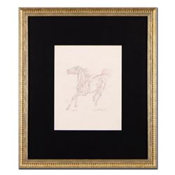 """Guillaume Azoulay - """"BS Sketch"""" Framed Original Drawing, Hand Signed with Certificate of Authenticit"""