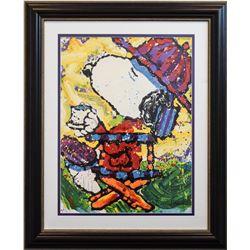 "Tom Everhart- Lithograph ""Tea At the Bel Air Beagle Club - 3:00 P.M."""